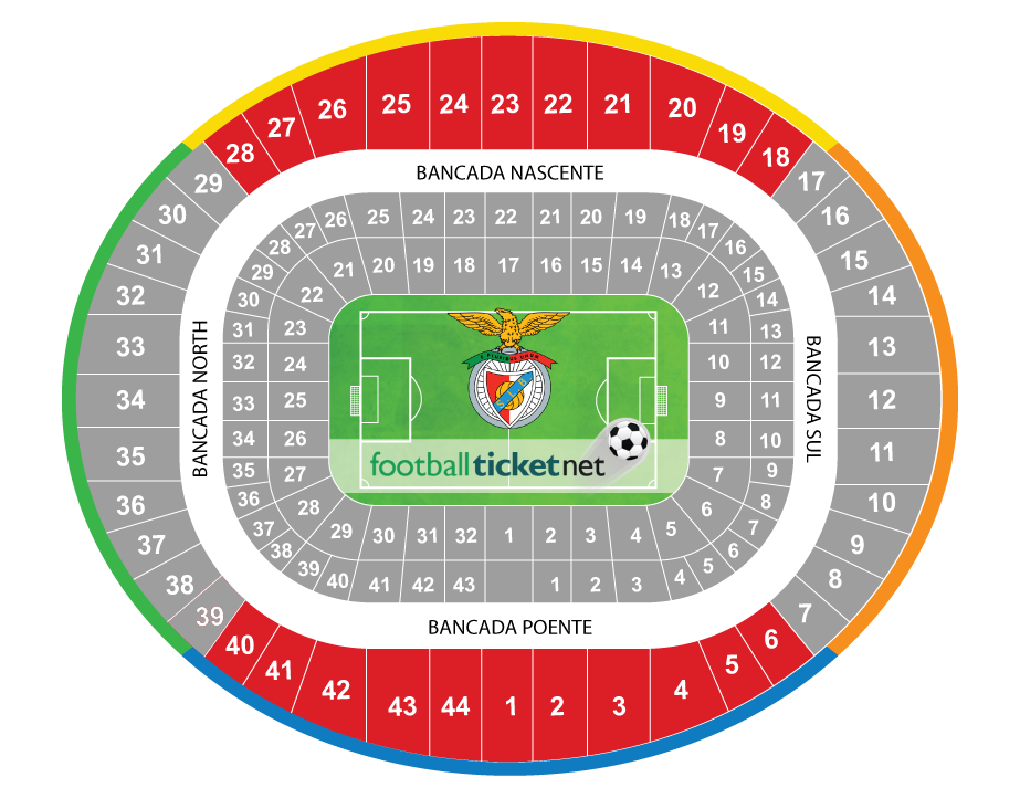 Sl benfica vs fc porto 15 04 2018 football ticket net for Piso 0 estadio da luz